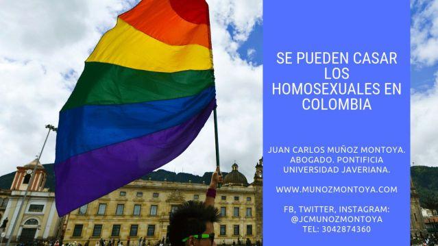 los homosexuales e pueden casar en Colombia