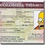 visa colombiana homero