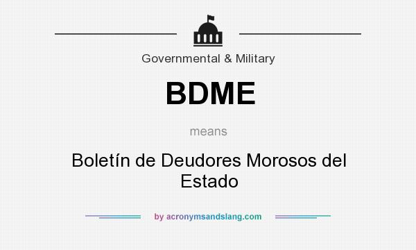 BDME meaning - what does BDME stand for?