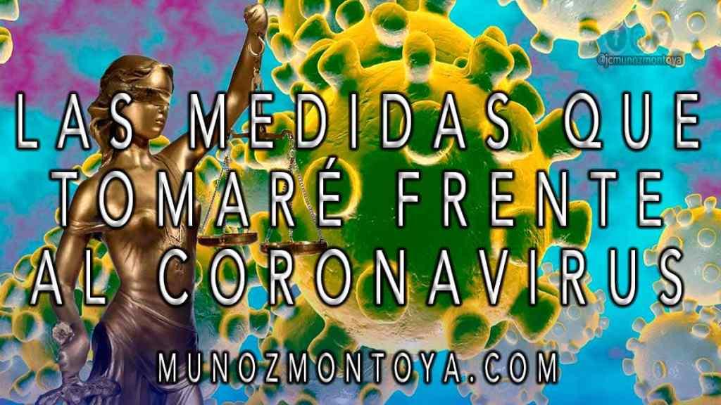 anuncio sobre el coronavirus abogados